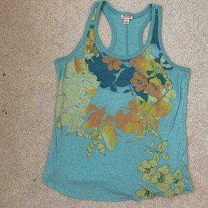 Blue Floral Mossimo Halter Tank Top